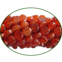 Fine Quality Carnelian Plain Coin, size: 5mm to 7mm