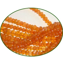 Fine Quality Carnelian Faceted Roundel, size: 4mm to 4.5mm