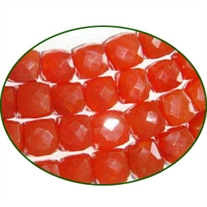 Fine Quality Carnelian Faceted Box, size: 8x8mm to 10x10mm
