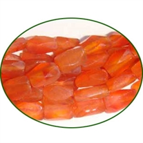 Fine Quality Carnelian Faceted Brick, size: 5x6mm to 5x8mm