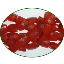 Fine Quality Carnelian Faceted Chiclet, size: 8x10mm to 9x13mm