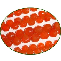 Fine Quality Carnelian Faceted Onion, size: 5x6mm to 9x9mm