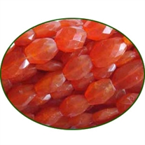 Fine Quality Carnelian Faceted Oval, size: 6x8mm to 8x10mm