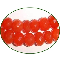 Fine Quality Carnelian Faceted Roundel, size: 9mm to 10mm