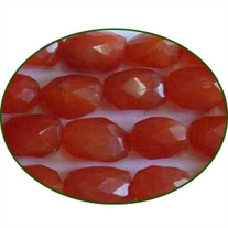 Fine Quality Carnelian Faceted Tumble, size: 15mm to 25mm