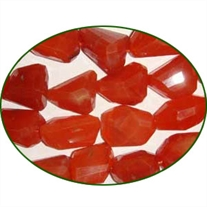 Fine Quality Carnelian Israel Machine Cut Tumble, size: 18mm to 25mm