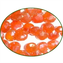 Fine Quality Carnelian Faceted Heart, size: 8mm to 9mm