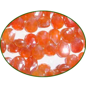 Fine Quality Carnelian Faceted Pears, size: 6x9mm to 8x10mm