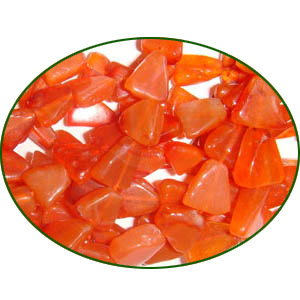 Fine Quality Carnelian Plain Triangle, size: 6x6mm to 7x9mm