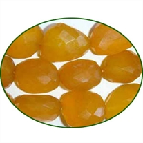 Fine Quality Chalcedony Yellow Faceted Tumble, size: 15mm to 25mm
