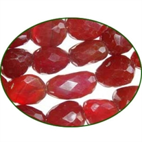 Fine Quality Chalcedony Red Faceted Tumble, size: 15mm to 25mm