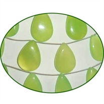 Fine Quality Chalcedony Lime Green Pears, size: 13x18mm to 16x26mm