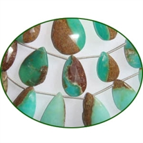 Fine Quality Chrysoprase Choco Briolette Faceted Pears, size: 9x15mm to 20x30mm