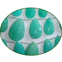 Fine Quality Chrysoprase Faceted Pears, size: 5x7mm to 12x15mm