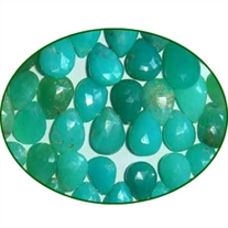 Fine Quality Chrysoprase Shaded Faceted Pears, size: 7x9mm to 10x13mm