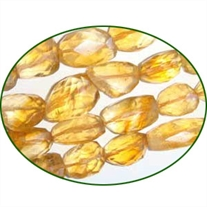 Fine Quality Citrine Faceted Tumble, size: 10mm to 18mm