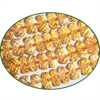 Fine Quality Citrine Faceted Roundel, size: 6mm to 7mm