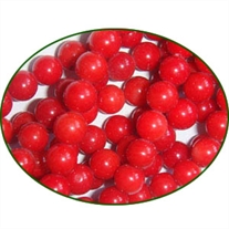 Fine Quality Coral Dyed Red Plain Round, size: 6mm