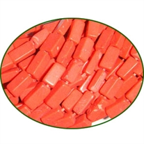 Fine Quality Coral Dyed Pink Plain Brick, size: 4x6mm to 4x8mm