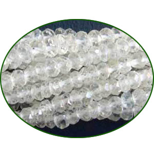 Fine Quality Crystal Faceted Roundel, size: 3mm to 3.5mm