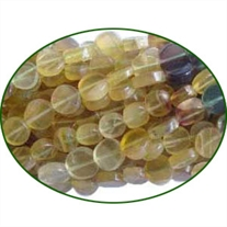 Fine Quality Fluorite Multi Plain Coin, size: 7.5mm to 10mm