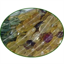 Fine Quality Fluorite Multi Faceted Oval, size: 6x8mm to 8x10mm