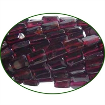 Fine Quality Garnet Faceted Flat Bricks, size: 3x5mm to 4x6mm