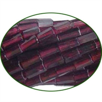 Fine Quality Garnet Faceted Tube, size: 7mm to 10mm