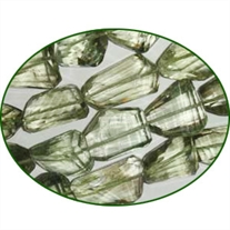 Fine Quality Green Amethyst Machine Cut Tumble, size: 15mm to 28mm
