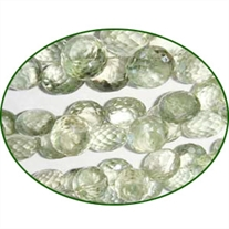 Fine Quality Green Amethyst Faceted Onion, size: 6x8mm to 10x13mm