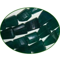 Fine Quality Green Onyx Machine Cut Tumble, size: 15mm to 20mm