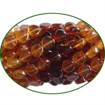 Fine Quality Hessonite Garnet Plain Coin, size: 5mm to 6mm