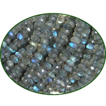 Fine Quality Labradorite Faceted Roundel, size: 4mm to 4.5mm