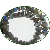 Fine Quality Labradorite Faceted Briolette Twisted Pillow, size: 6x10mm