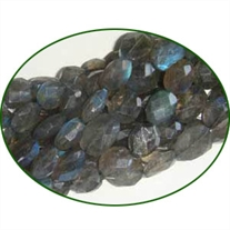 Fine Quality Labradorite Faceted Machine Cut Oval, size: 6x8mm to 7x9mm