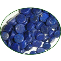 Fine Quality Lapis Lazuli Plain Coin, size: 8mm to 10mm