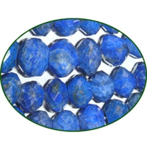 Fine Quality Lapis Lazuli Faceted Roundel, size: 10mm to 15mm