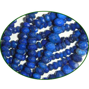 Fine Quality Lapis Lazuli Faceted Roundel, size: 3mm to 3.5mm