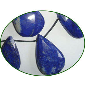 Fine Quality Lapis Briolette Faceted Large Pears, size: 11x18mm to 23x38mm