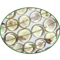 Fine Quality Lemon Topaz Faceted Coin, size: 10mm to 12mm