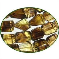 Fine Quality Lemon Topaz Machine Cut Faceted Tumble, size: 12mm to 18mm