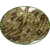 Fine Quality Lemon Topaz Faceted Roundel, size: 4mm to 4.5mm