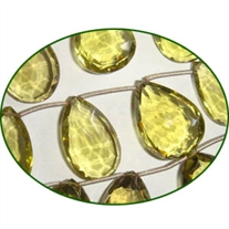 Fine Quality Lemon Topaz Green Gold Large Faceted Pears, size: 13x18mm to 15x25mm