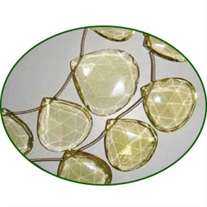 Fine Quality Lemon Topaz Briolette Faceted Heart, size: 15mm to 25mm
