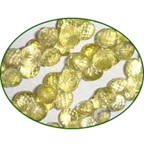 Fine Quality Lemon Topaz Faceted Onion, size: 9x9mm to 9x10mm