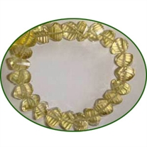 Fine Quality Lemon Topaz Faceted Twisted Pillow, size: 7mm to 8mm