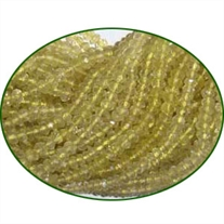 Fine Quality Lemon Topaz Faceted Roundel, size: 3mm to 3.5mm