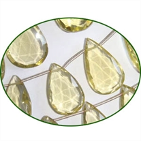 Fine Quality Lemon Topaz Faceted Large Pears, size: 12x20mm to 18x35mm