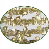 Fine Quality Lemon Topaz Plain Side Drill Drops, size: 8mm to 10mm