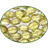 Fine Quality Lemon Topaz Faceted Concave Cut Oval, size: 9x12mm to 12x16mm